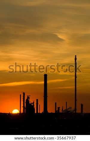 Industrial Orange Sunset with Copy Space 3