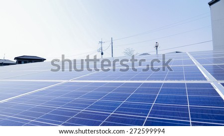 Industrial photovoltaic installation Solar power - stock photo