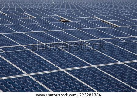 Industrial photovoltaic solar power - stock photo