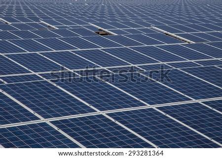 Industrial photovoltaic solar power - stock photo