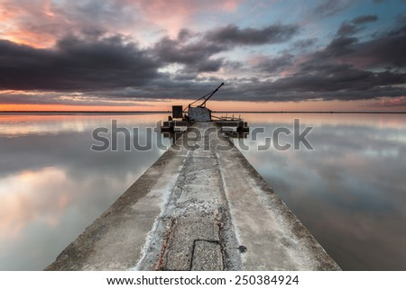 industrial pier - stock photo