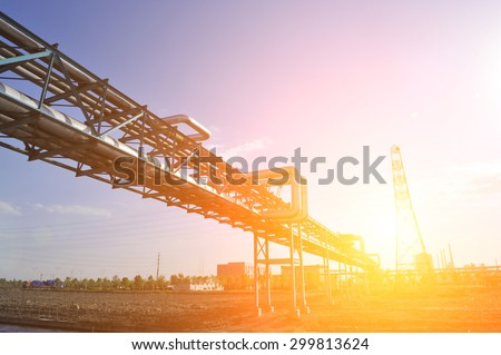 Industrial pipe - stock photo