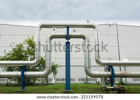 Industrial pipelines in power station facility asia of Thailand