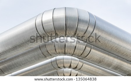 Industrial Pipes - stock photo
