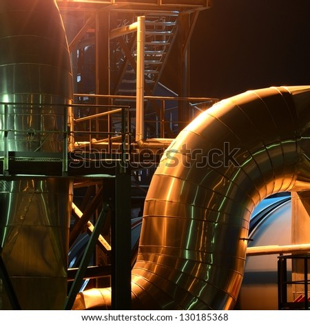industrial pipes view - stock photo