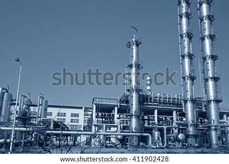 Industrial plant equipment - stock photo