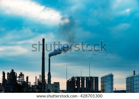 Industrial plant wit blue sky