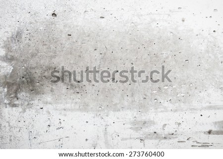Industrial plaster wall surface, view from top - stock photo