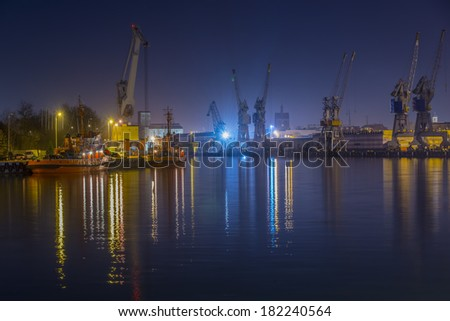 Industrial Port in night