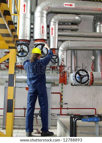 industrial power plant - stock photo