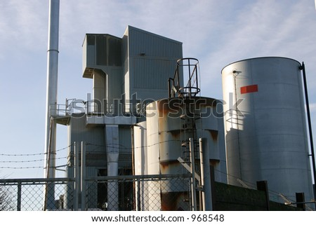 Industrial processing plant buildings and structures