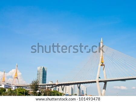 Industrial Ring Road Bridge - stock photo