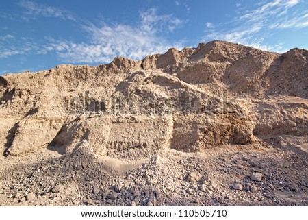 Industrial sand and gravel quarry - stock photo