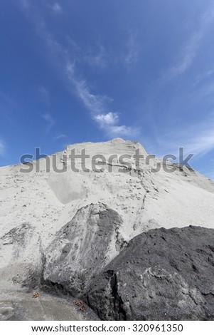 industrial sand mound - stock photo