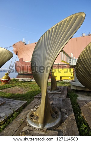Industrial sculpture - stock photo