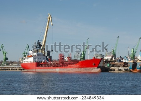 Industrial Ship - stock photo