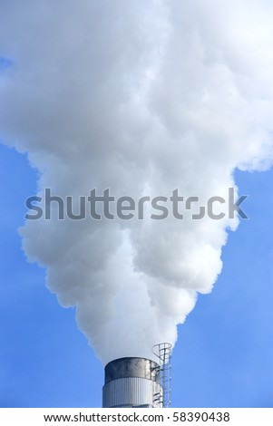 Industrial smoke - stock photo