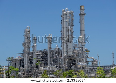 Industrial smokestack - stock photo