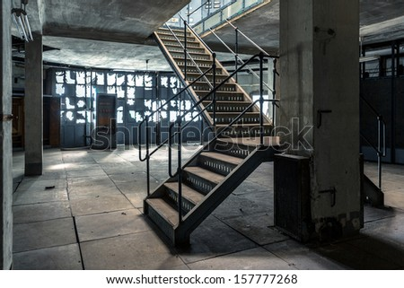 Charming Industrial Stairs Of A Building Closeup