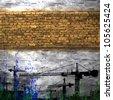 industrial, strip bricks - stock vector