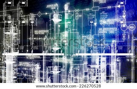 Industrial technologies - stock photo