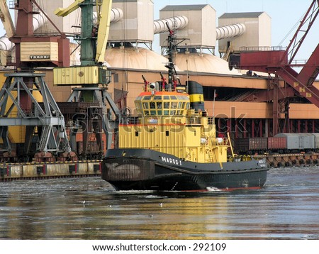 Industrial Tow ship