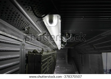 industrial tunnel with dim light