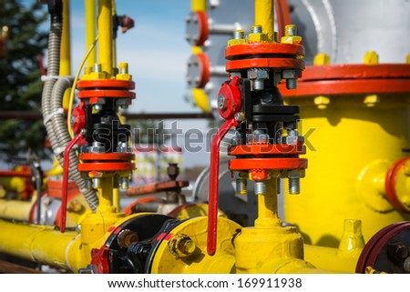 Industrial valves - stock photo