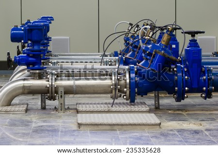 Industrial water pumping. - stock photo