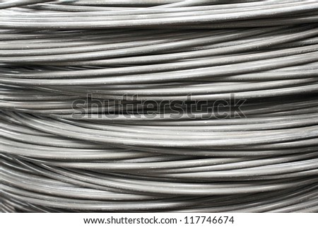 Industrial wire roll background - stock photo