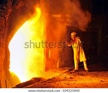industrial worker - stock photo