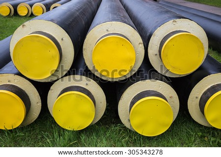 industrially isolated pipes