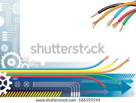 Industry automation background, raster. - stock photo