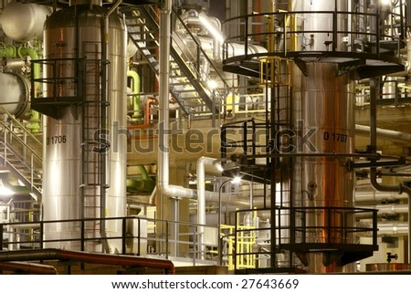 Industry by night details - stock photo