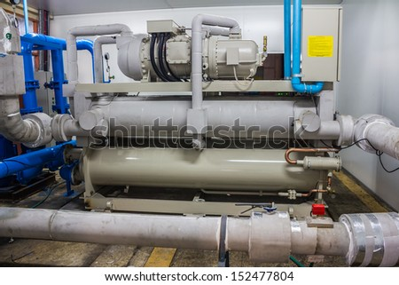 industry compressor - stock photo