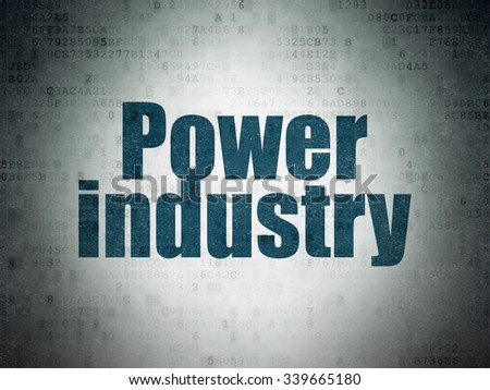 Industry concept: Painted blue word Power Industry on Digital Paper background