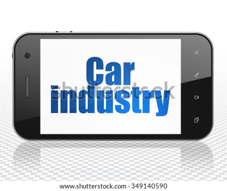 Industry concept: Smartphone with blue text Car Industry on display - stock photo