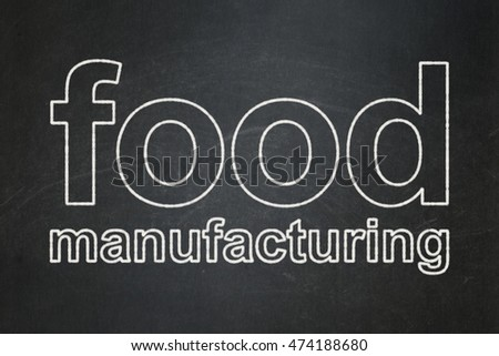 Industry concept: text Food Manufacturing on Black chalkboard background