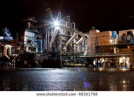 Industry in the port of Rotterdam - stock photo