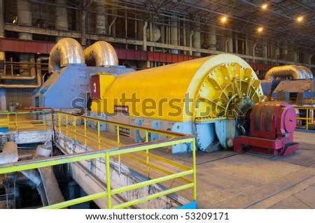 Industry Installations power. Power Turbines - stock photo