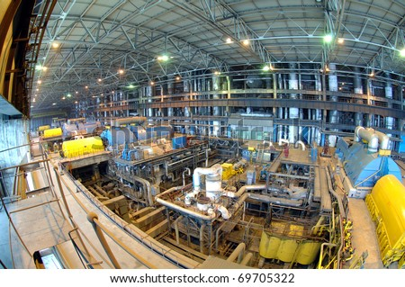 Industry Installations power. Power Turbines - stock photo