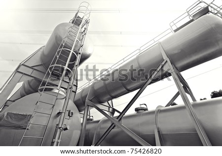 industry scene - stock photo