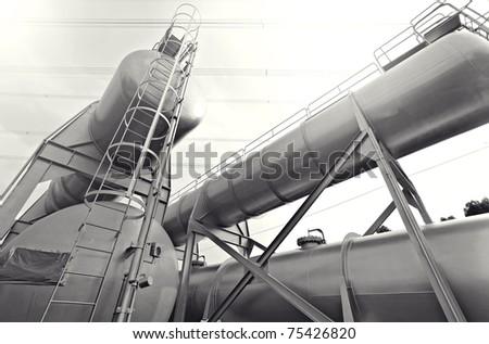 industry scene - stock photo