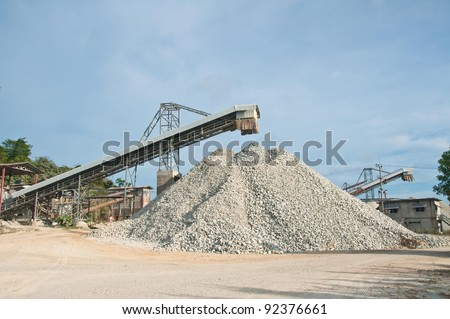 industry stone  south of Thailand - stock photo