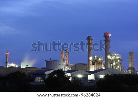 Industry with the blue sky. - stock photo