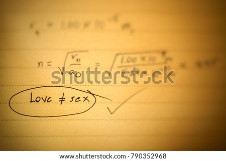 Inequality Love Not Equal Mathematical Stock Photo Royalty Free  Shutterstock