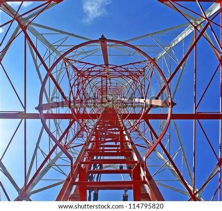inetrnet signal pole - stock photo