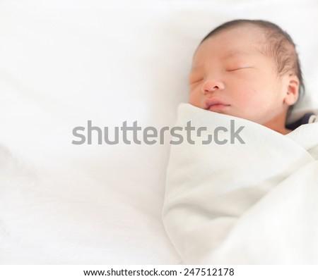 infant ,baby new born, - stock photo