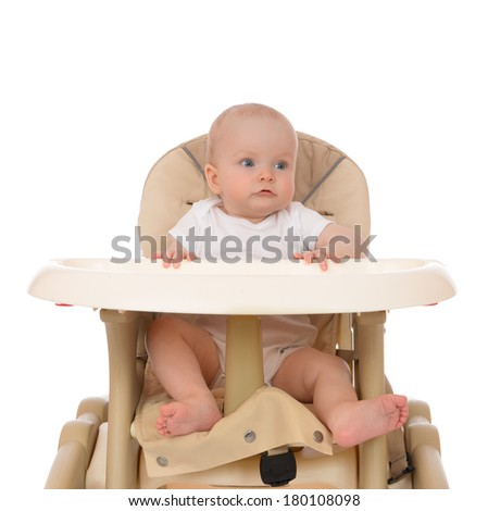 Stock images similar to id 210536248 baby in kitchen for Toddler sitting chair