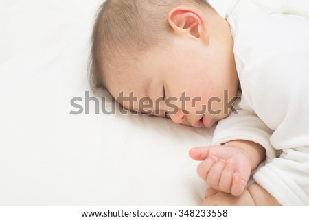 infant sleeping